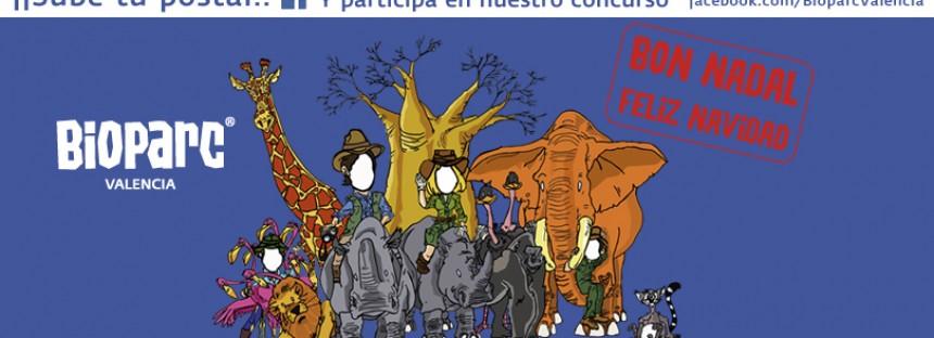 Felicita con la postal de BIOPARC y participa en el concurso navideño