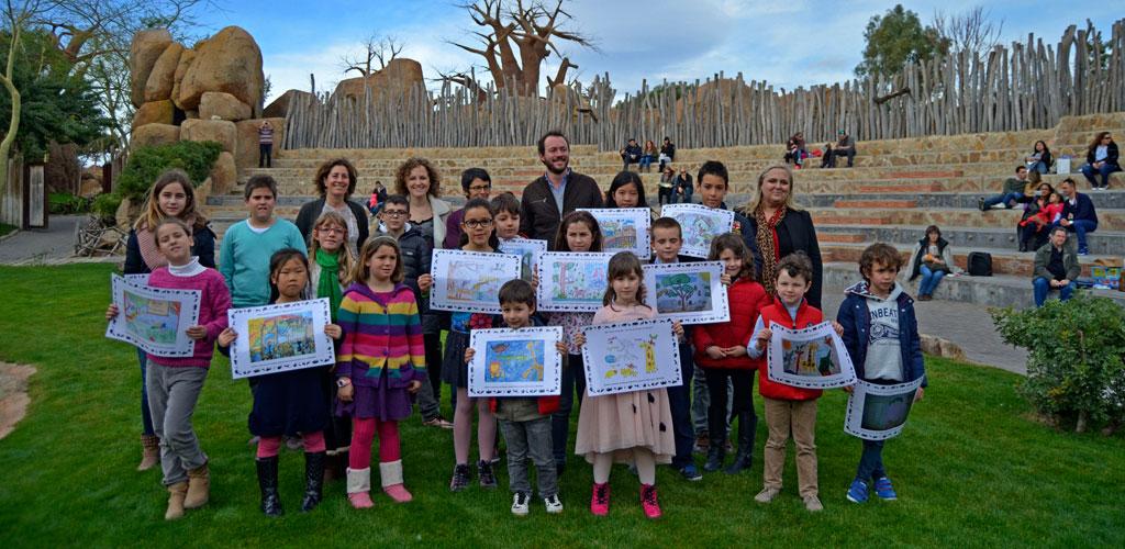 La ganadora y finalistas del 5º Concurso de Dibujo del pase B! infantil 2016 reciben premios y reconocimiento
