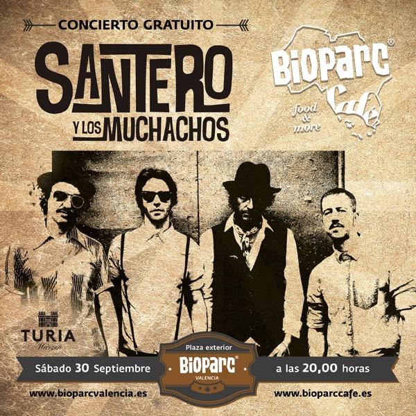 Concierto gratuito: Santero y los Muchachos este sábado en directo en la plaza exterior de BIOPARC