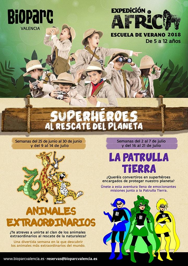 Escuela de verano - Expedición África Verano 2018 BIOPARC Valencia