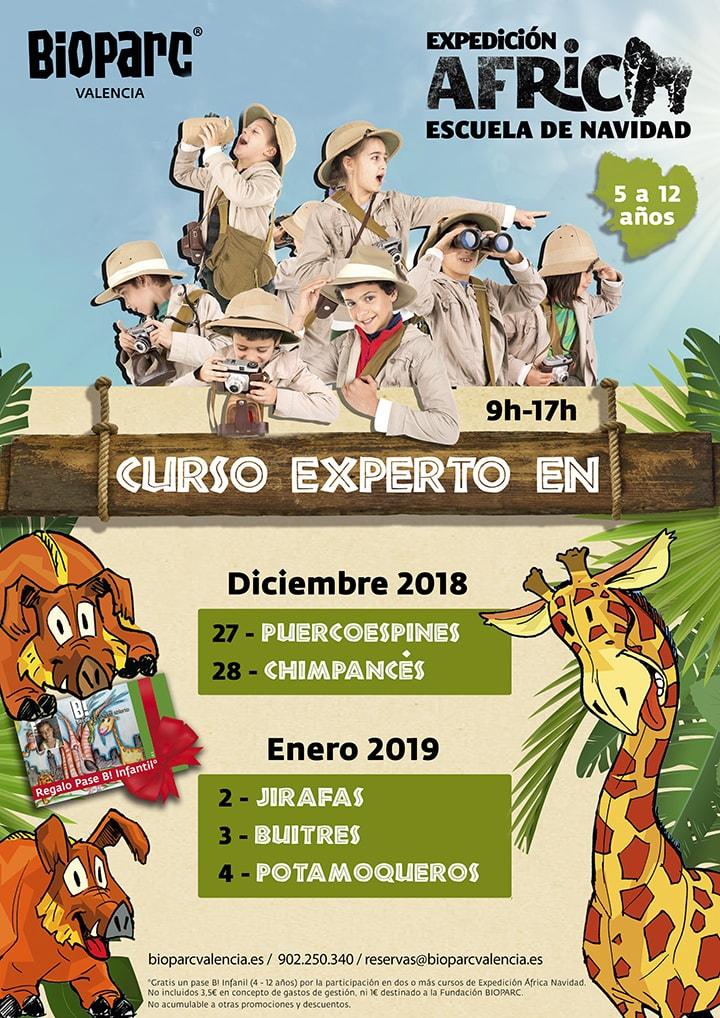 Escuela de Navidad - EXPEDICIÓN ÁFRICA - BIOPARC 2018
