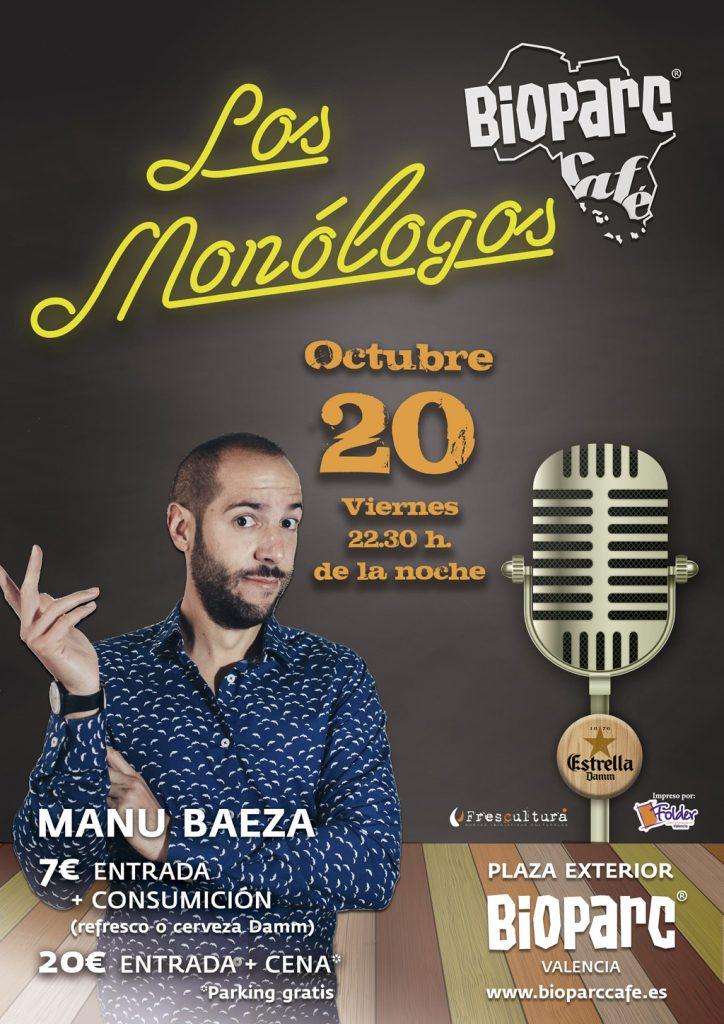 Manu Baeza - Los Monólogos de BIOPARC Café - viernes 20 de octubre 2017