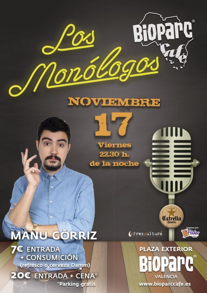 Manu Górriz en los monólogos de BIOPARC Café
