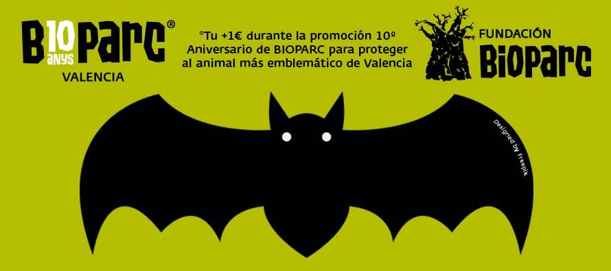 """BIOPARC Valencia dedicará """"+1€"""" para a salvar a los murciélagos con la promoción """"con causa"""" de su 10º aniversario"""