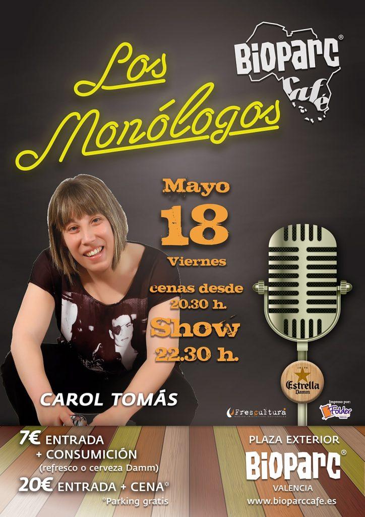Carol Tomás en Los monólogos de BIOPARC Café