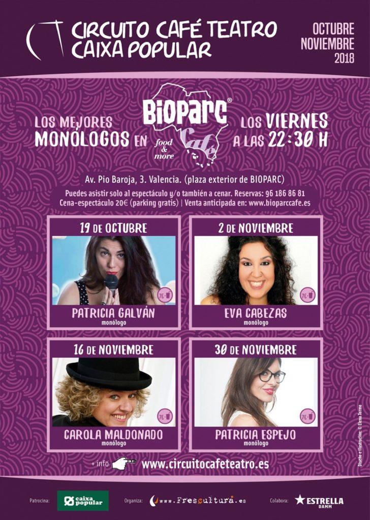 BIOPARC Café visibiliza el humor realizado por mujeres en su nuevo Ciclo de Monólogos