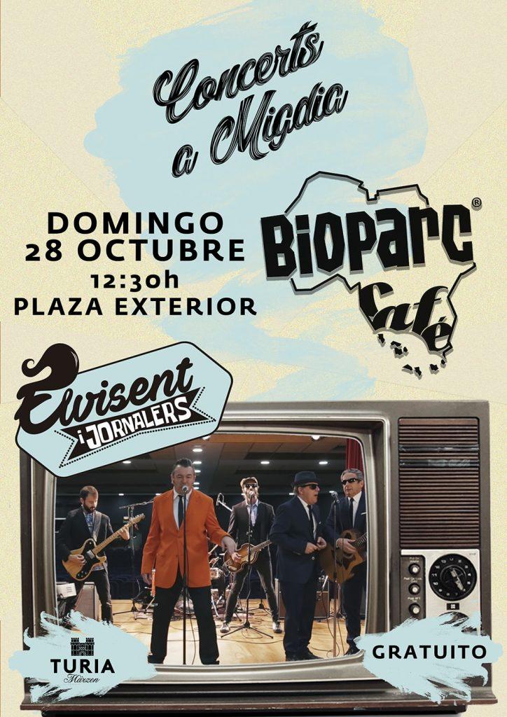 Domingo 28 de octubre, concierto gratuito deELVISENT i Jornalers.