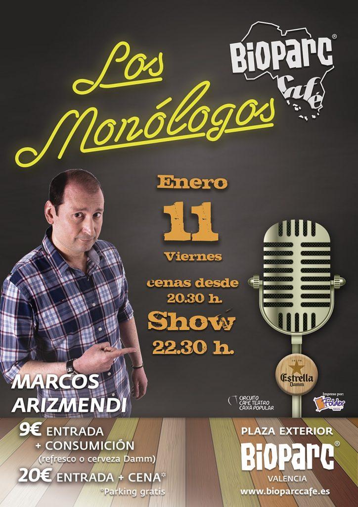 Viernes 11 de enero - Marcos Arizmendi - humor en BIOPARC Café