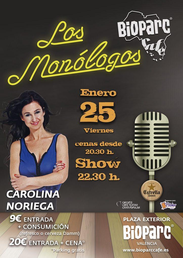 Carolina Noriega en los monólogos de BIOPARC Café