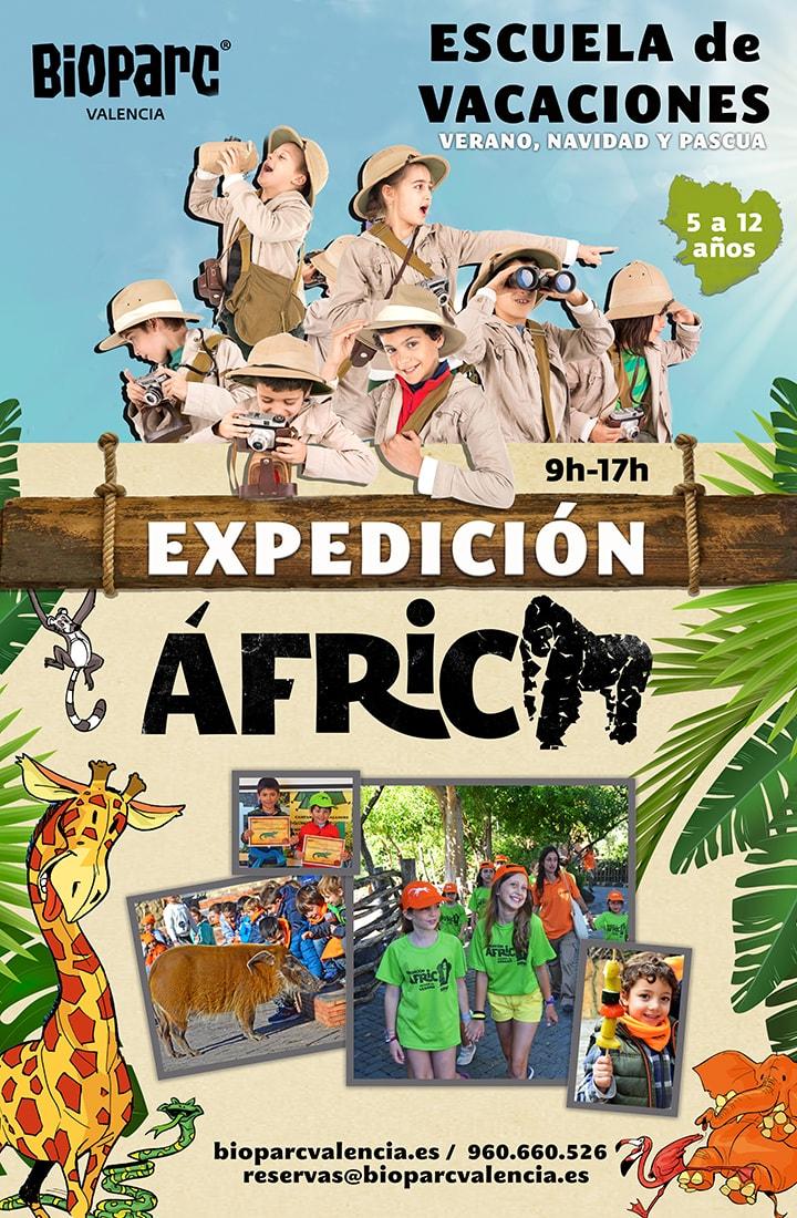 Expedición África - Escuela de vacaciones de BIOPARC Valencia