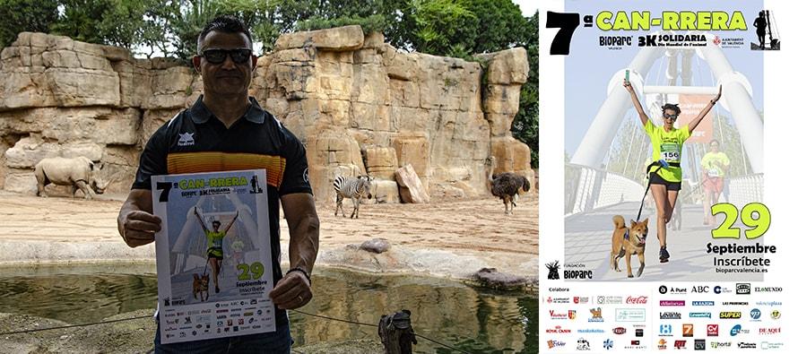 David Casinos apoya un año más la CAN-RRERA solidaria de BIOPARC Valencia