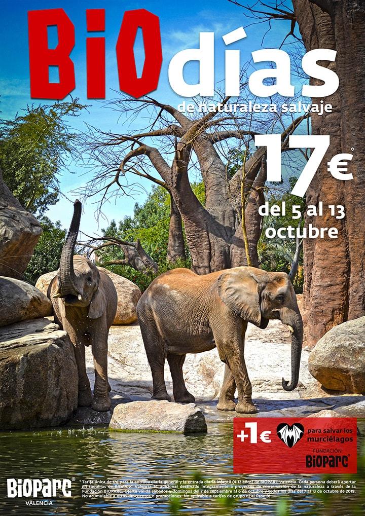 Promocion BIOdias octubre 2019 - BIOPARC Valencia