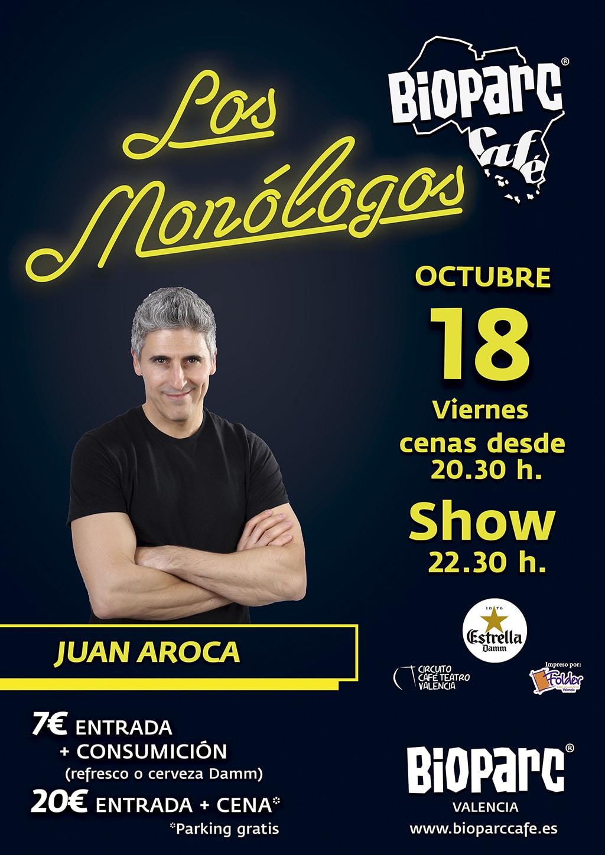 Este viernes 18 de octubre BIOPARC Café reanuda Los Monólogos