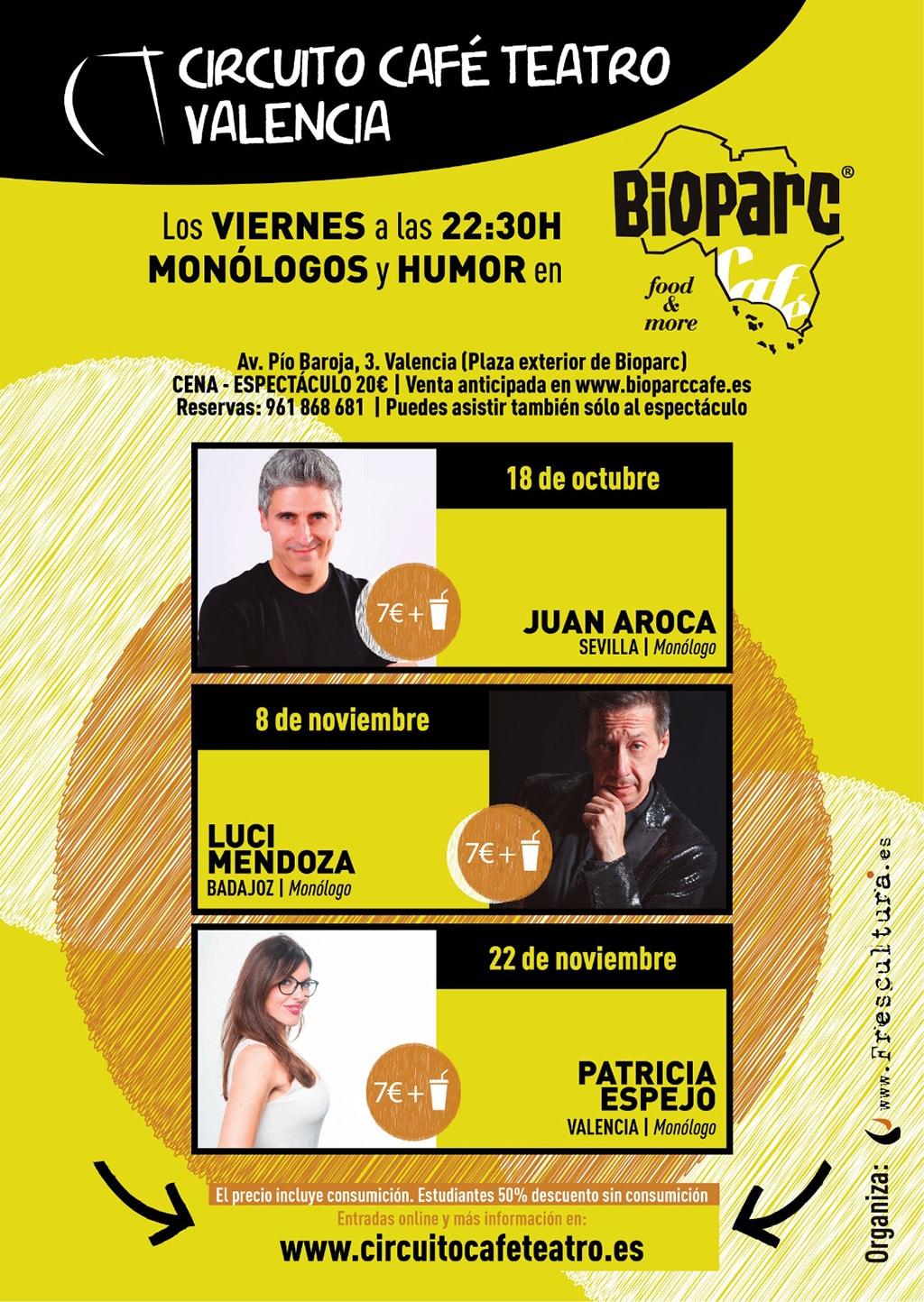 Los monólogos de BIOPARC Café - octubre y noviembre 2019
