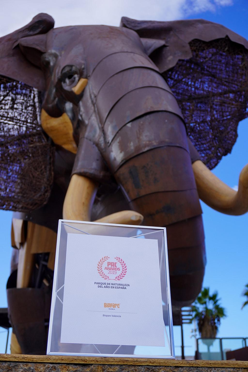 BIOPARC Valencia reconocido como Parque de Naturaleza Pac awards 2019