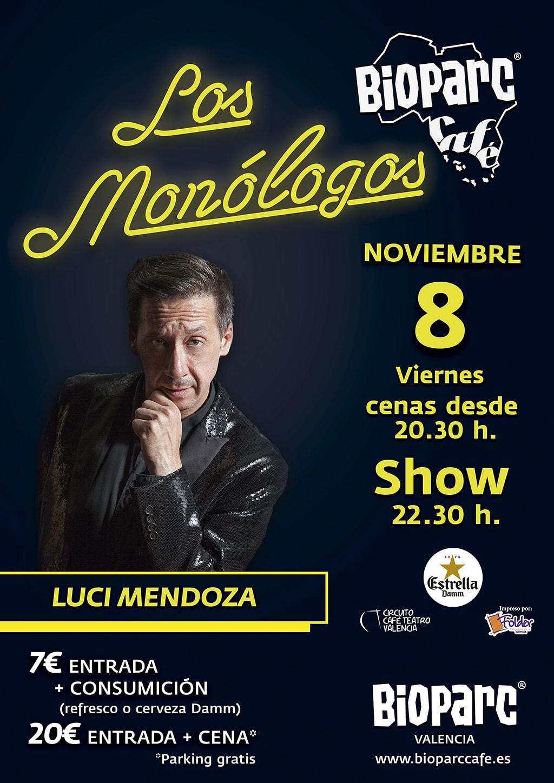 Luci Mendoza en Los Monólogos de BIOPARC Café 8 noviembre 2019