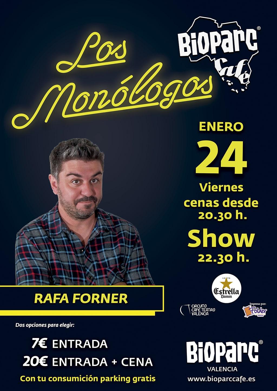 Rafa Forner en los monologos de BIOPARC Cafe
