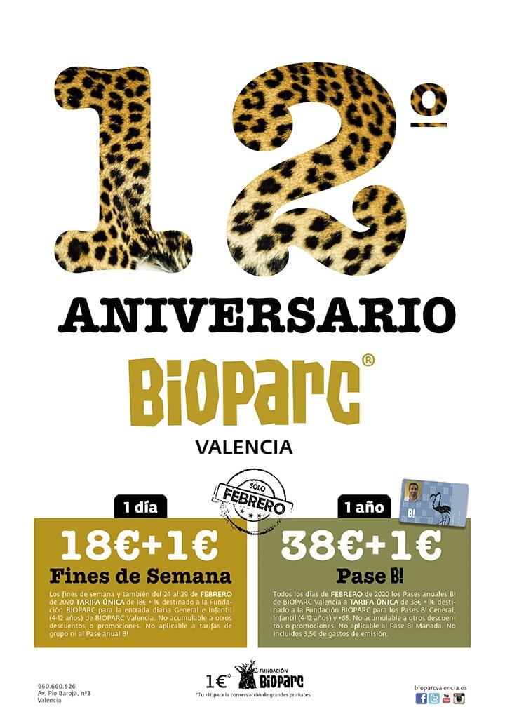 Promociones 12 Aniversario BIOPARC Valencia 2020