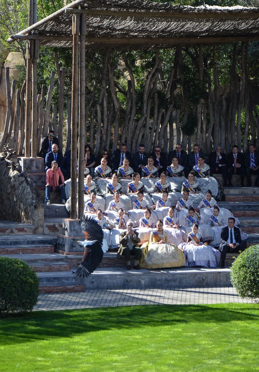Las Falleras Mayores de Valencia celebran el 12 aniversario de BIOPARC