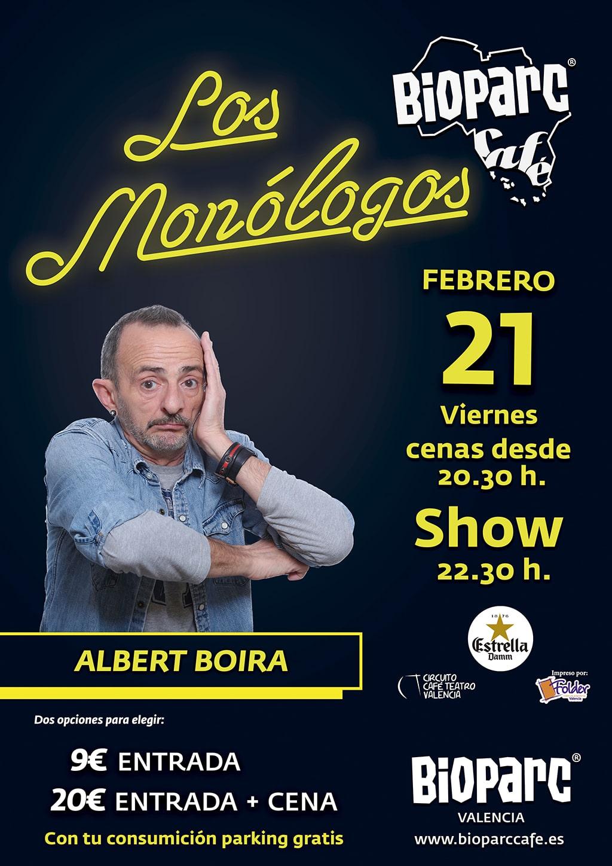 Comediando por la vida con Albert Boira en BIOPARC Café